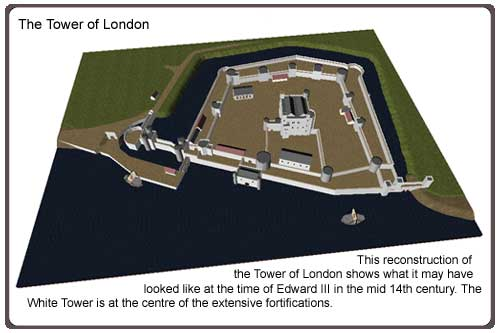 Examine the Tower of London diorama