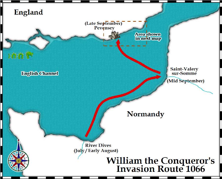 Map Of England Hastings.Medieval And Middle Ages History Timelines The Battle Of Hastings