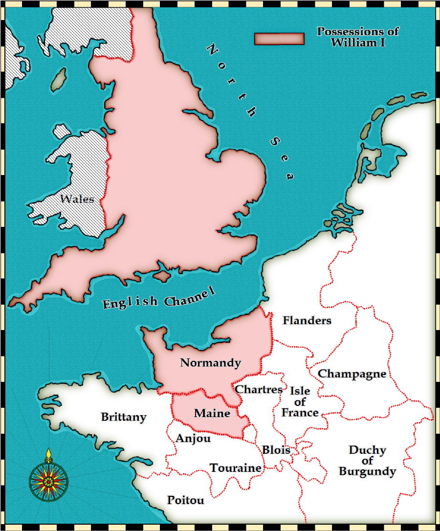 Show Me The Map Of England.Medieval And Middle Ages History Timelines William The Conqueror S